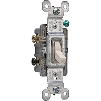 120 Vac 3 Way Ivory EATON C1303-7LTV-L Lighted Grounding Toggle Switch 15 A