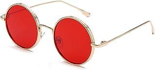 Sunglasses Gafas de Sol de Moda Gafas De Sol Redondas Pequeñas Retro Clásicas para Hombres Y Mujeres, Gafas De Sol Punk