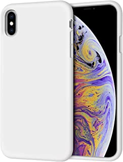 iPhone Xs Max Case, Anuck Soft Silicone Gel Rubber Bumper Case Anti-Scratch Microfiber Lining Hard Shell Shockproof Full-Body Protective Case Cover for Apple iPhone Xs Max 6.5
