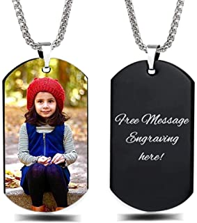 Best Personalized Custom Photo and Message Necklace Pendant Keychain Dog tag Reviews