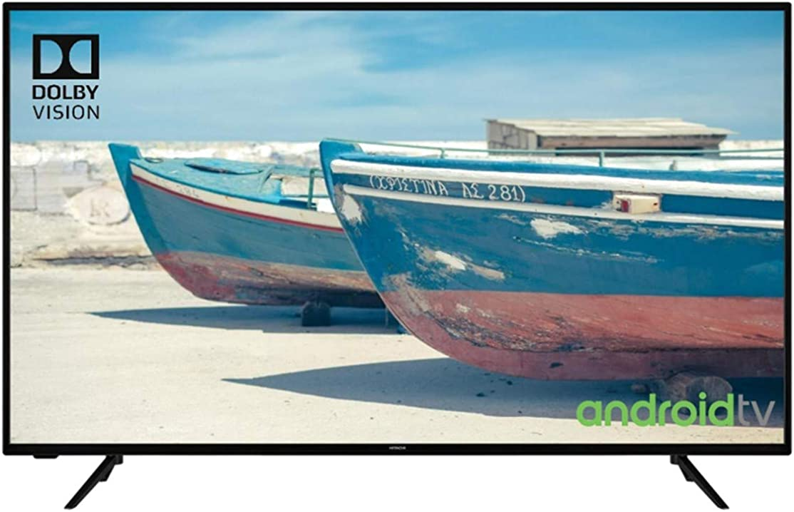 Tv 50 pollici hitachi led 4k uhd - 50hak5751 - hdr10 - android smart tv - wifi - 4 hdmi - 2 usb -bluetooth