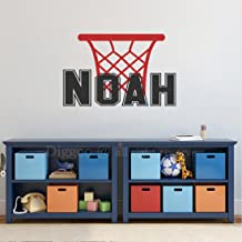 Basketball Personalized Boy Name Decal- Boy Name Wall Decals - Teens Boys Room Sport Theme Wall Decor (14