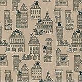 Textiles français Baumwollstoff | Die Katzen von Paris -