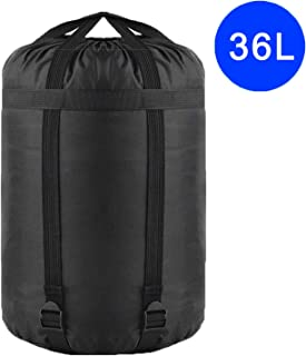 TINANA Compression Stuff Sack, 24L, 36L, 46L, Waterproof Sleeping Bags Storage Stuff Sack Organizer, Great for Backpacking and Camping
