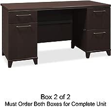 Bush Double Pedestal Desk, 60-Inch by 28-1/2-Inch by 30-Inch, Mocha