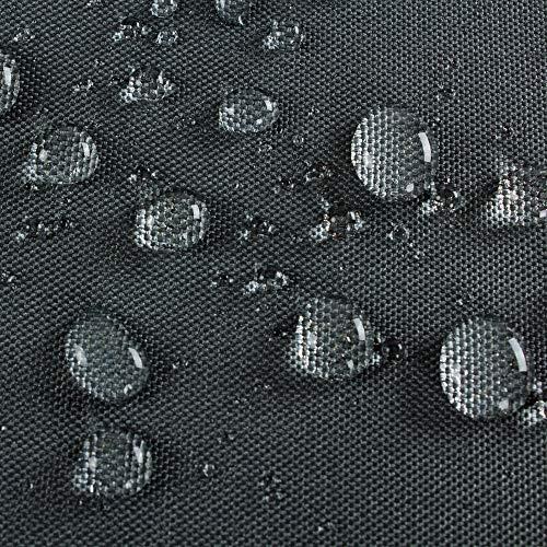 Hentex Cover Loungemöbel Abdeckhaube für L-Form Sofas,Wasserdichtes Atmungsaktives TPU Gewebe Abdeckhaube für Gartenmöbel ,Wasserdicht Schutz vor Wind UV schützende (Grau (235 * 235 * 100W*70H cm) - 4