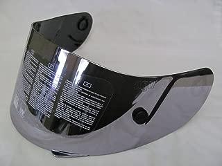 AGV GP-TECH/T-2 FACE SHIELD/VISOR SILVER MIRROR ANTI-SCRATCH w/TEAR OFF POSTS