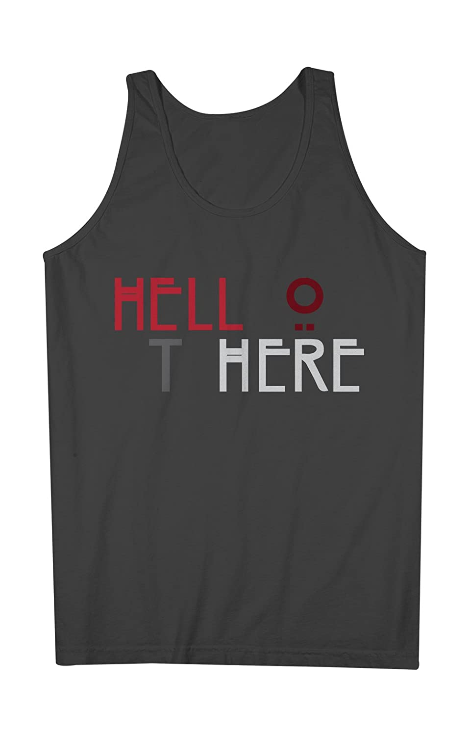 Hello There Hell Here Double Meaning 男性用 Tank Top Sleeveless Shirt