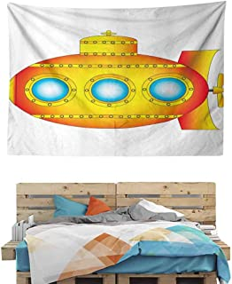 HuaWuChou Sea Vessel Tapestry Small, Tapestry for Living Room Bedroom Dorm Room, 90.5W x 59L Inches