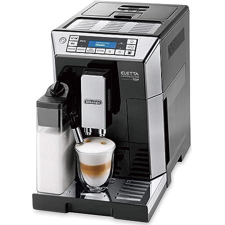 【ハイエンドモデル】デロンギ(DeLonghi) コンパクト全自動コーヒーメーカー エレッタ 自動カフェラテ・カプチーノ機能 ラテメニュー7種搭載 タッチパネル ブラック ECAM45760B