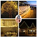 9.8 ft x 9.8 ft 300 LEDs Window Curtain Lights Backdrop for Weddings Bedroom Birthday,Battery Operated,9 Mode,Ideal for Christmas,Party,Garden Decor