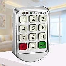 Cerradura de combinación con teclado numérico electrónico digital N/A para puerta de armario y cajón, cerradura de combinación