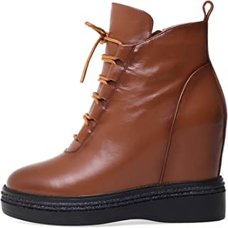 YLME Dames Herfst- en winterlaarzen, Martin laarzen, All-Match sleehak laarzen, modieuze warmte-niet-instapper dikke hak