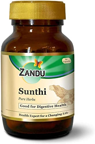 Zandu Sunthi Pure Herbs For Good Digestive Health 60 Veg Capsules