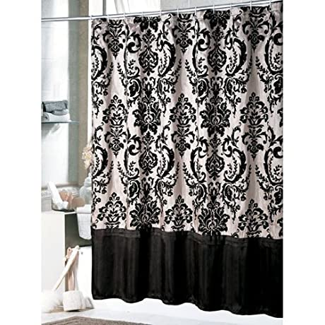 Curtains Ideas black and white damask curtains : Damask shower curtains - Oh So Girly!