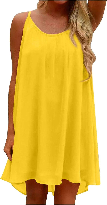 BZSHBS Women Criss Cross Hollow Mesh Halter Mini Dress Sleeveless O Neck Camisole Dress