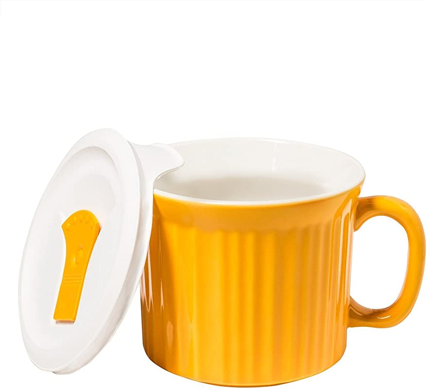 Corningware Colours Pop Ins Mug With Lid 20 Ounce Sunflower