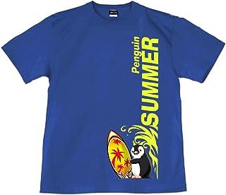 [GENJU] Tシャツ サーフィン サーフボード ぺんぎん ペンギン 夏 メンズ Tシャツ 海 ピーチパラソル 表もデザインあり メンズ キッズ