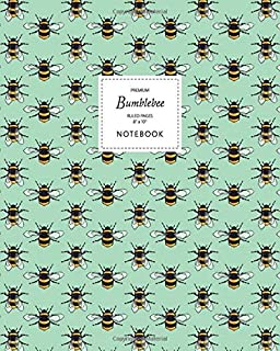 Bumblebee Notebook - Ruled Pages - 8x10 - Premium: (Green Edition) Fun notebook 192 ruled/lined pages (8x10 inches / 20.3x...
