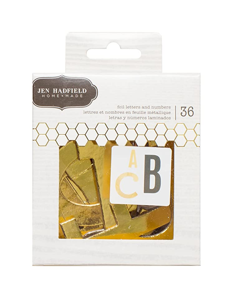 American Crafts 36 Piece Jen Hadfield DIY Home Foil Letters & Numbers