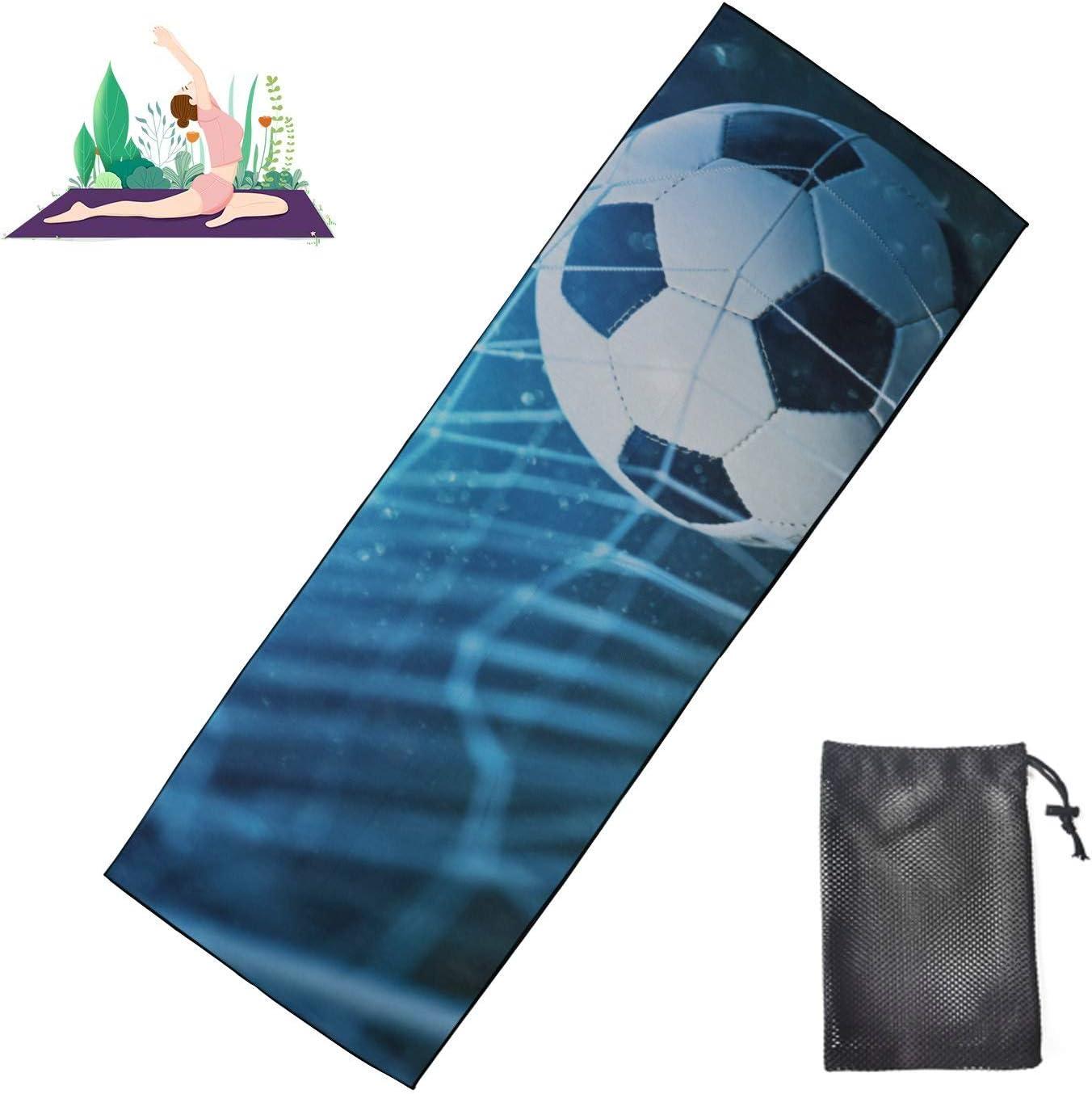 Zaqiwa Fun Yoga Mats for Ranking Max 67% OFF TOP11 Women Football Goals Beautiful Compact