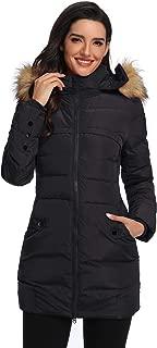 Obosoyo Women's Hooded Thickened Long Down Jacket Winter Down Parka Puffer Jacket