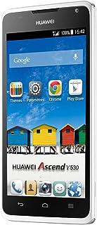 "Huawei Ascend Y530 - Smartphone Libre Android (Pantalla 4.5"", cámara 5 MP, 4 GB, Dual-Core 1.2 GHz, 512 MB RAM), Blanco"