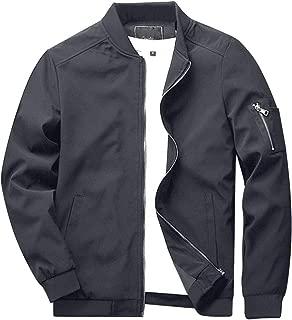KEFITEVD ライトジャケット メンズ ミリタリージャケット カジュアル ジャンパー スリム ブルゾン フライトジャケット スタジャン バイク用 薄手 アウター コート 9937