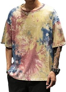 Unisex 3D Printed Tops Tees Casual Short Sleeve T Shirts, Men's Trendy Hip Hop City T-Shirt-Street Fashion Graffiti Animat...