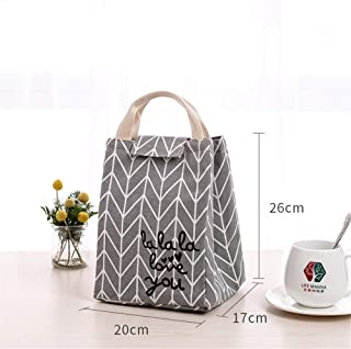 Lunch Box Bag Handbag Waterproof Insulation Bag Canvas Will Be Used As A Bag Large Insulation Bag Lunch Box Bag 20 X 17 X 26Cm Love