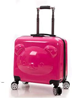 20 Inch luggage Suitcase Bear Travel Trolley spinner suitcase Trolley bag on wheels Kids wheeled cabin size Rolling Baggage bag,red,20