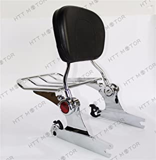 Harley HD Softail Deluxe FLSTN Upright Detachable Passenger Sissy Bar Backrest with Pad 2005-2012