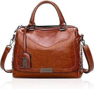 NICOLE & DORIS 2021 New Damen handtaschen Top Handle Handtasche Fashion Style Reißverschluss Umhängetasche für Damen PU Le...