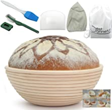 Bread Proofing Basket 9 Inch Banneton proofing basket Bread Basket+Bread lame+Dough Scraper +Proofing Cloth Liner for Sour...