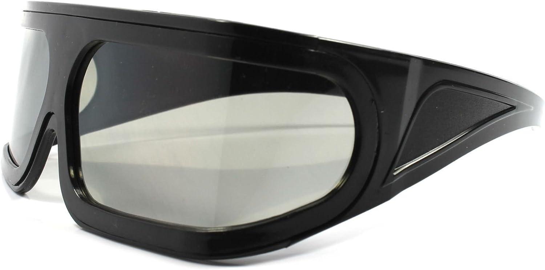 Costume Party Rave Anime Novelty Futuristic Black Wrap Shield Visor Sun Glasses
