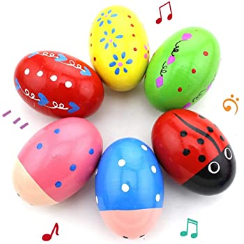 Musik Percussion Instruments Holz Egg Shakers Rhythm Rattle für Baby Kids 2 W6M8