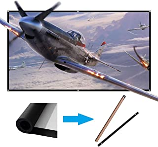 60 inch Projector Screen Portable Outdoor Projection Movies Screens 16:9 HD Wrinkle-Free for Home Theater Indoor LYH