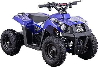 MotoTec 36v 500w ATV Monster v6 Blue Kids Children 36V Mini Quad ATV Dirt Motor Bike Electric Battery Powered, 5 Colors (Blue)