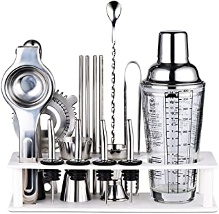 Bartending Making Kit,Bartender 17-Piece Bar Set Shaker Perfect Home Tool with Accessories for an Awesome Drink Mixing Exp...