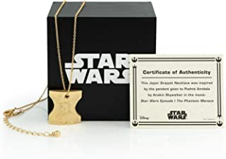 Toynk Star Wars Japor Snippet Necklace | Collectible Star Wars Jewelry Pendant | 18-Inch Loop & 1-Inch Pendant