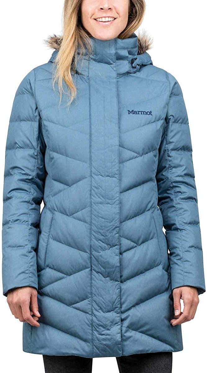Marmot Women Varma Long Quilted 1229212 Down 卓出 Jacket 激安価格と即納で通信販売 Hooded Storm