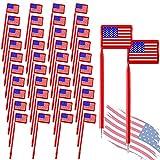Stylo de Drapeau Américain Stylos à Bille de Thème Patriotique Stylo à Encre Gel Drapeau Américain Tricolore pour Rédaction et Signature, Souvenir de Fête de l'Indépendance (40 Pièces )