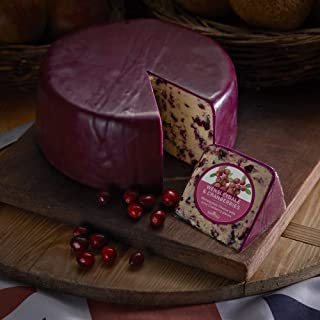 Wensleydale w/Cranberries Cheese (2.5 Lb Half Wheel) from England
