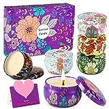 wilbest® Velas Perfumadas - 6 piezas Velas Perfumadas, Cera de Soja Natural (15-20 Horas),...