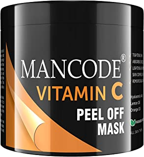 Mancode Vitamin C Peel off Mask for Men -100gm, Tightens Skin, Absorbs Excess Oil, Lightens and Brightens Skin Complexion ...