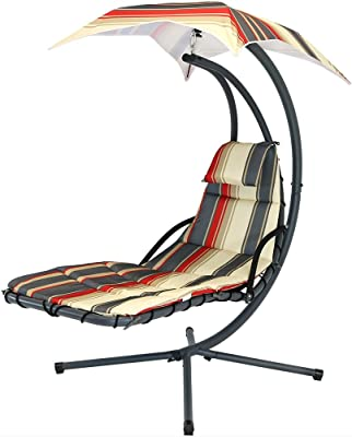 Amazon Com Barton Floating Swing Chaise Lounge Chair
