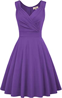 Best purple flare dress Reviews