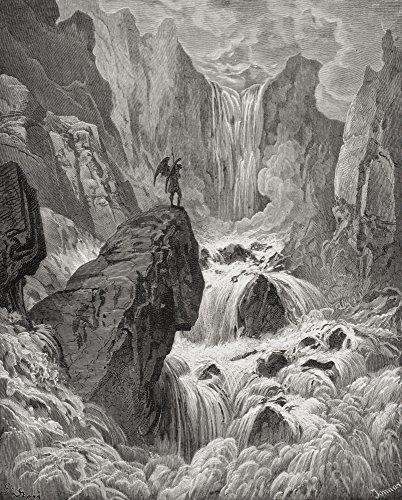 Ilustração de Gustave Dore 1832-1883 Artista e ilustrador francês para o paraíso perdido por John Milton Book Ix Lines 74 Poster Print44; 33 x 40 cm