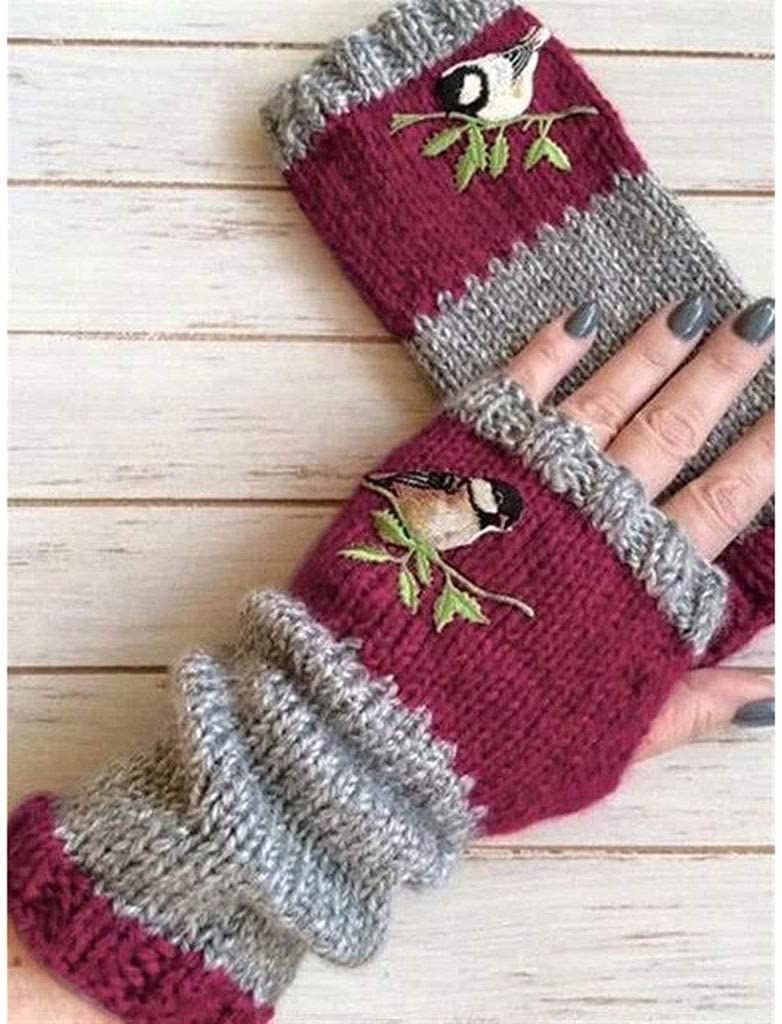 GHCXY Gloves,1 Pair Knitted Winter Mittens Warmer Women Fingerless Wrist Faux Ladies Casual Newest Warm Accessories Outdoor,C