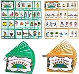 Juego de verbos irregulares pasados y tarjetas de memoria de verbo tenso para niños, tarjetas de bolsillo de aprendizaje, para guardería/maestro/terapeutas de autismo